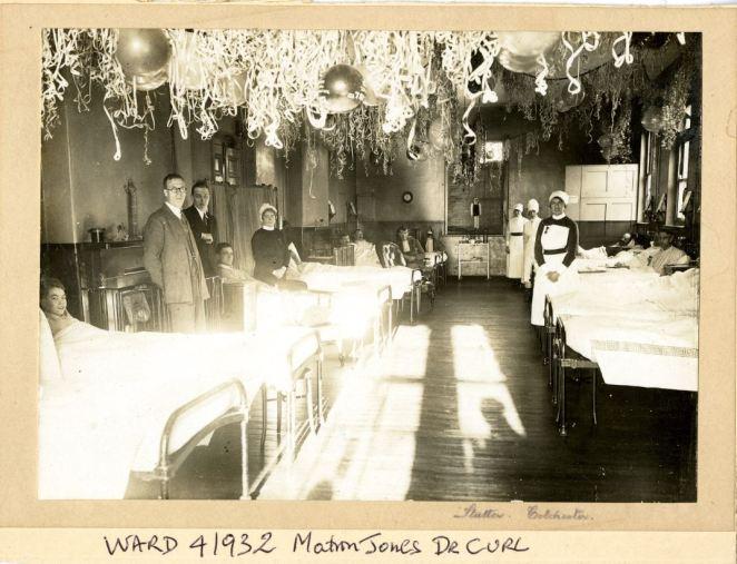 Ward 4 1932 Matron Jones Dr Sidney Curl Hon Physician